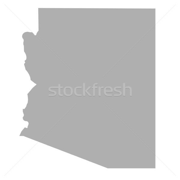 Arizona State map Stock photo © speedfighter