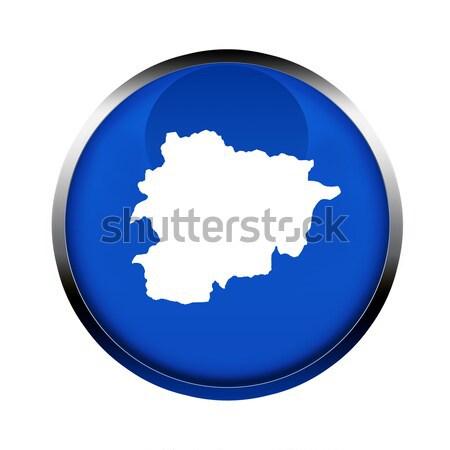 Andorra térkép gomb színek európai szövetség Stock fotó © speedfighter
