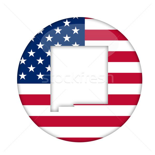 New Mexico amerika badge geïsoleerd witte business Stockfoto © speedfighter