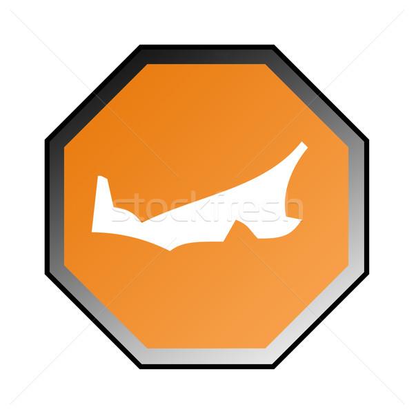 Isla del príncipe eduardo senalización de la carretera aislado blanco marco naranja Foto stock © speedfighter