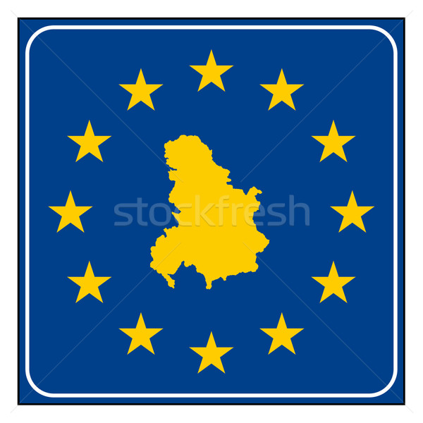 Serbia and Montenegro road sign Stock photo © speedfighter