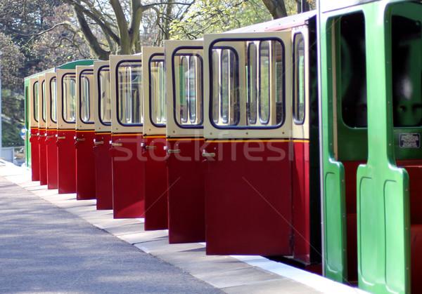 Nyitva vasút fuvar ajtók miniatűr vonat Stock fotó © speedfighter