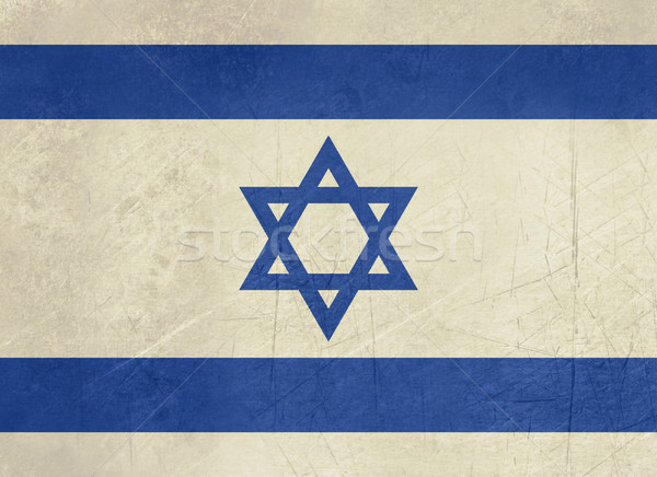 Grunge Israeli flag Stock photo © speedfighter