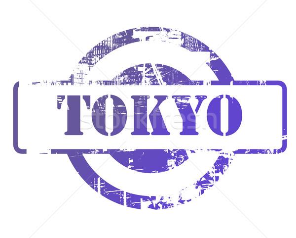 Tokio sello espacio de la copia aislado blanco negocios Foto stock © speedfighter