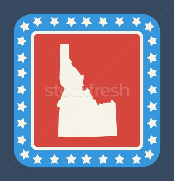 Idaho gomb amerikai zászló web design stílus izolált Stock fotó © speedfighter