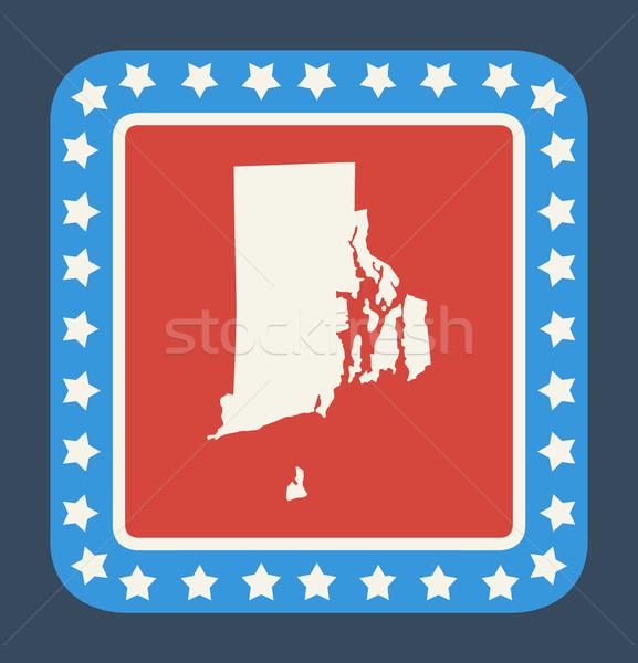 Rhode Island düğme amerikan bayrağı web tasarım stil yalıtılmış Stok fotoğraf © speedfighter
