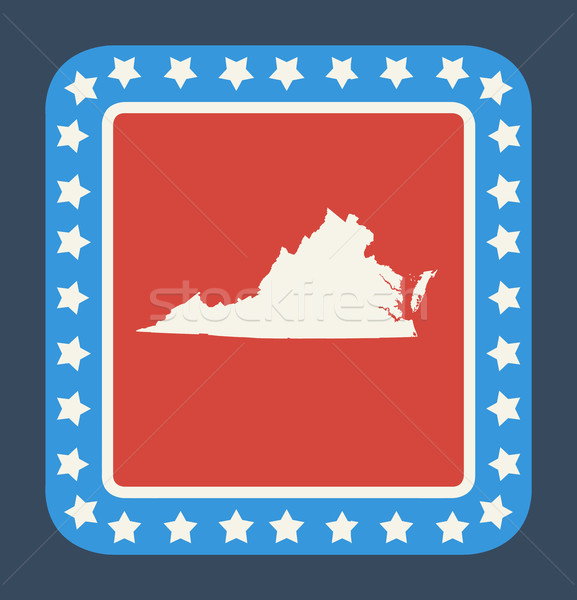 Virginie bouton drapeau américain web design style isolé Photo stock © speedfighter