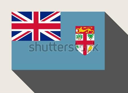 Fidzsi-szigetek zászló web design stílus térkép gomb Stock fotó © speedfighter