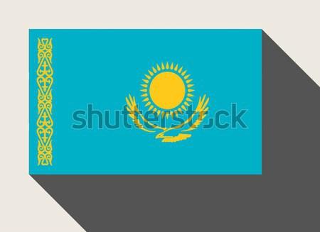 Казахстан флаг веб-дизайна стиль карта кнопки Сток-фото © speedfighter
