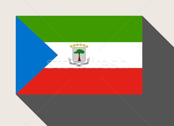 Guiné Equatorial bandeira web design estilo mapa botão Foto stock © speedfighter