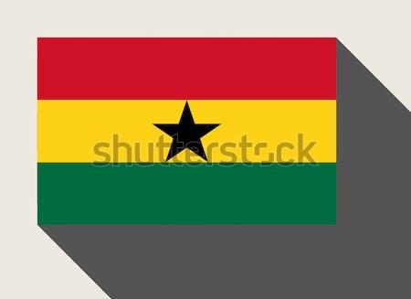 Гана флаг веб-дизайна стиль карта кнопки Сток-фото © speedfighter