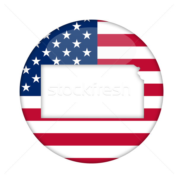 Kansas amerika badge geïsoleerd witte business Stockfoto © speedfighter