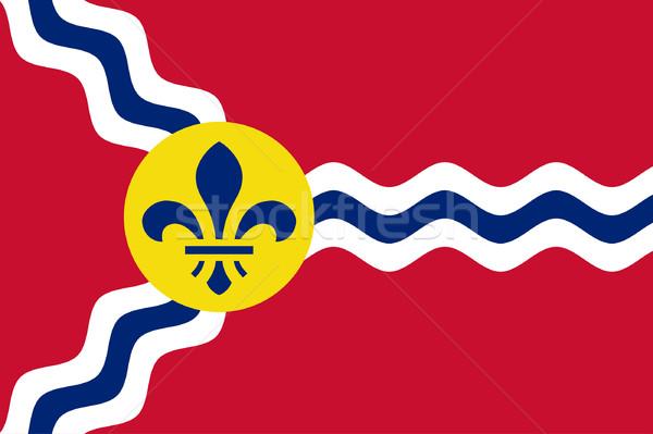 Zászló város Missouri USA utazás Amerika Stock fotó © speedfighter
