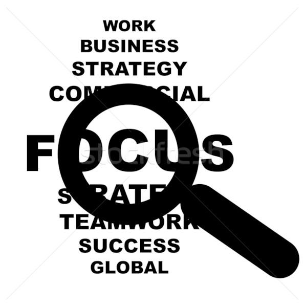 Stock photo: Business focus sign