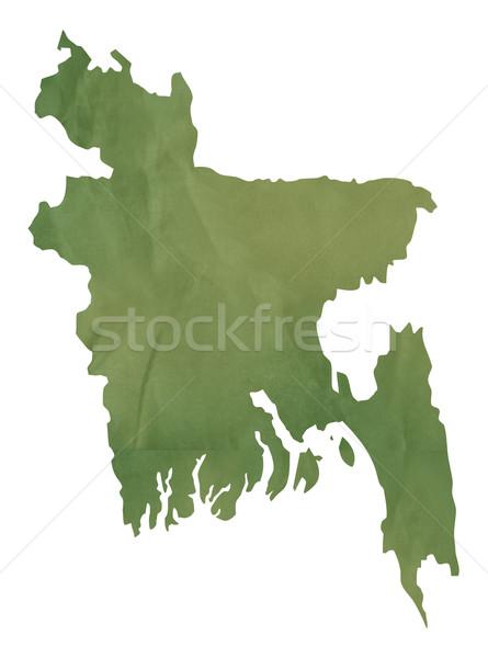Velho verde mapa Bangladesh papel Foto stock © speedfighter