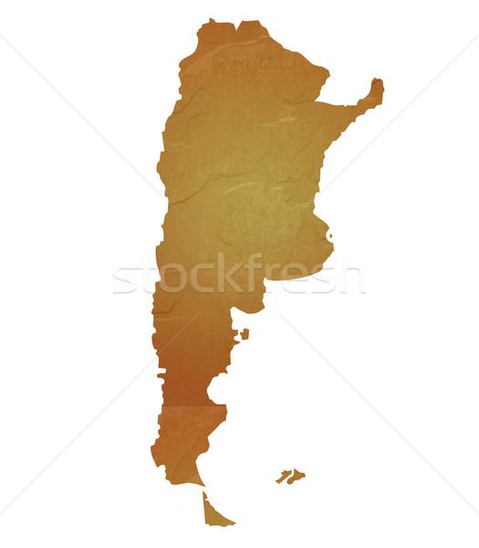 карта Аргентина коричневый рок каменные Сток-фото © speedfighter