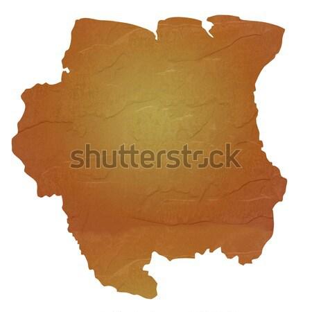 карта Суринам коричневый рок каменные Сток-фото © speedfighter