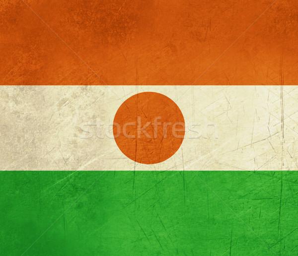 Grunge Niger bandiera paese ufficiale colori Foto d'archivio © speedfighter