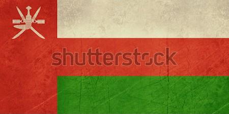 Grunge Omán zászló vidék hivatalos színek Stock fotó © speedfighter