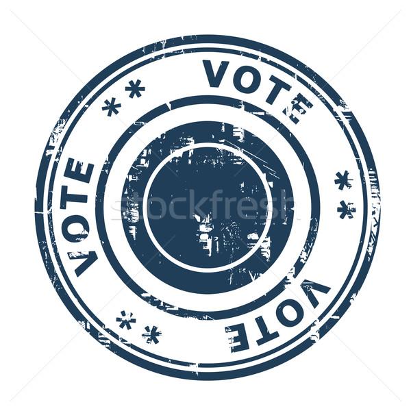 Votación sello aislado blanco negocios azul Foto stock © speedfighter