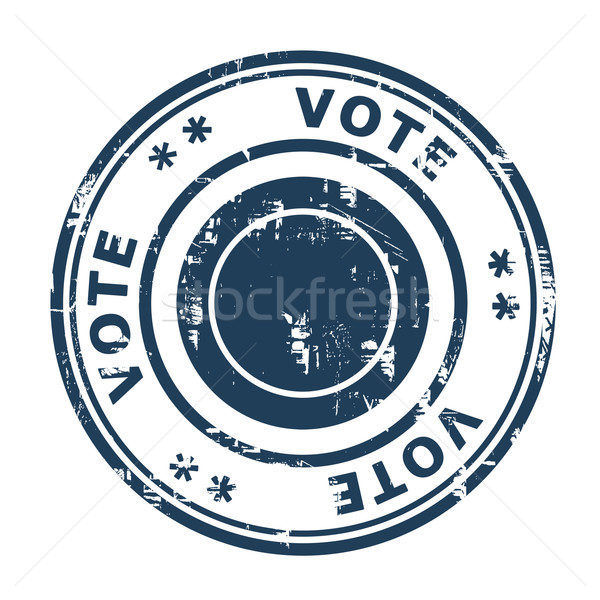 Votar carimbo isolado branco negócio azul Foto stock © speedfighter