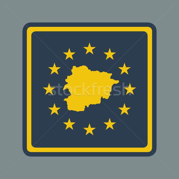 Andorra bandiera pulsante di risposta web design Foto d'archivio © speedfighter