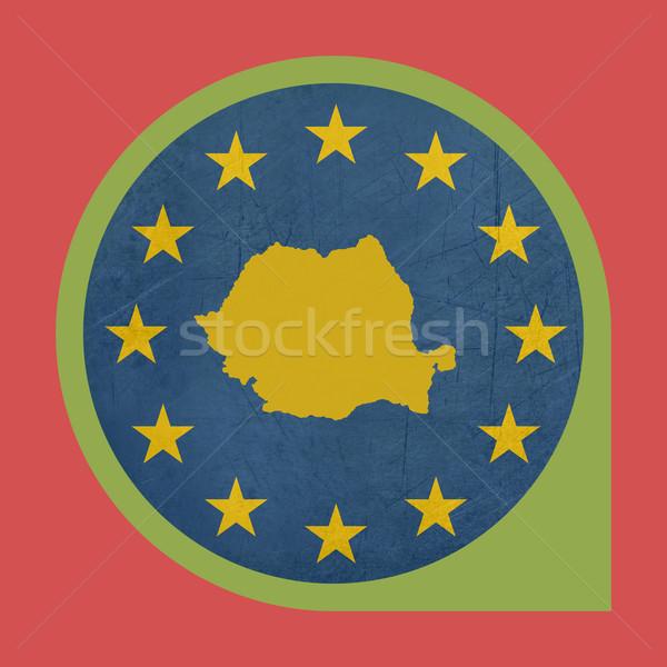 европейский Союза Румыния маркер кнопки изолированный Сток-фото © speedfighter