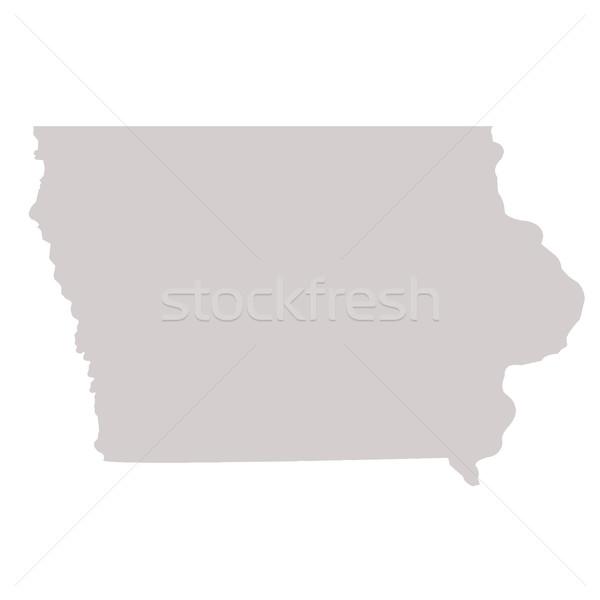 Айова карта изолированный белый США Америки Сток-фото © speedfighter