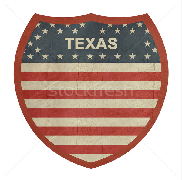 Grunge Texas americano interestadual sinal da estrada isolado Foto stock © speedfighter