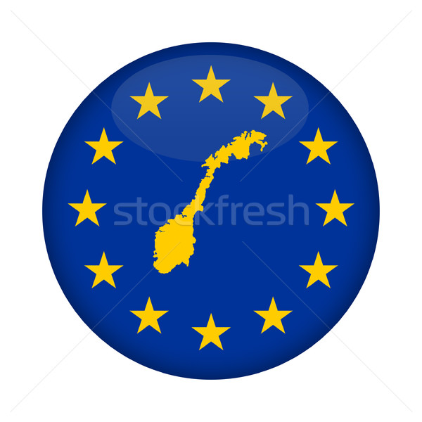 Norway map European Union flag button Stock photo © speedfighter