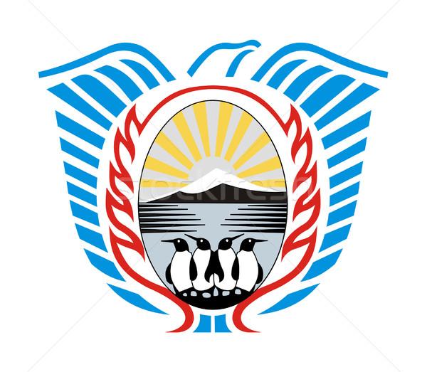 Tierra Del Fuego coat of arms Stock photo © speedfighter