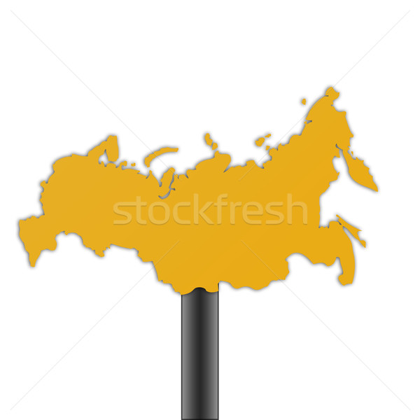 Russian Federation map road sign Stock photo © speedfighter