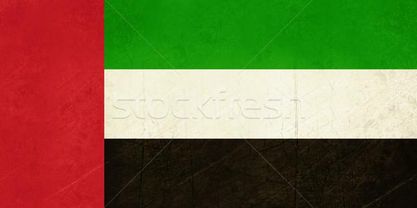 Grunge Emirados Árabes Unidos bandeira país oficial cores Foto stock © speedfighter