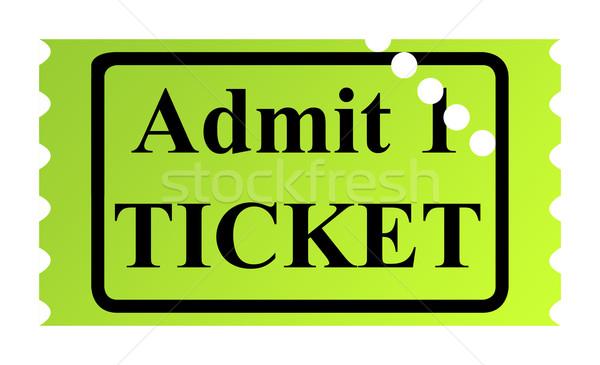 Admit one ticket Stock photo © speedfighter
