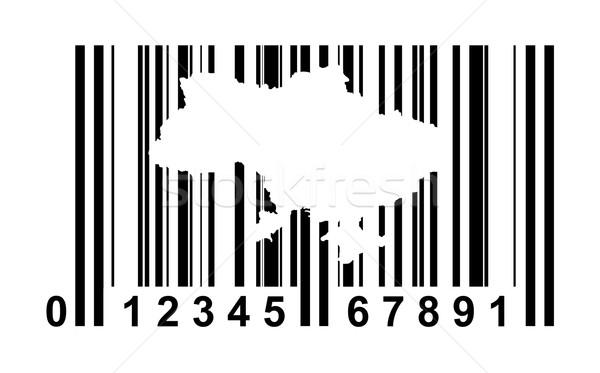 Oekraïne streepjescode winkelen geïsoleerd witte reizen Stockfoto © speedfighter