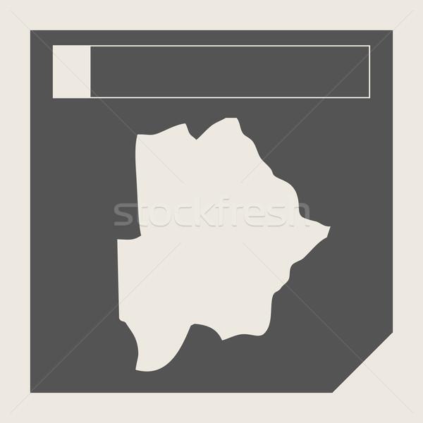 Ботсвана карта кнопки отзывчивый веб-дизайна изолированный Сток-фото © speedfighter