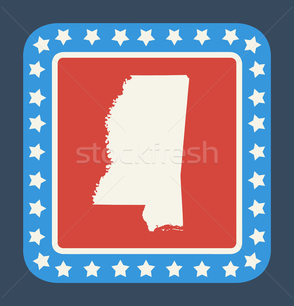Mississippi state button Stock photo © speedfighter