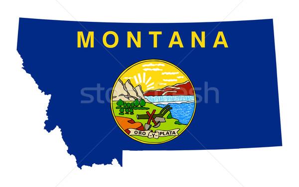 Montana pavillon carte isolé blanche USA Photo stock © speedfighter