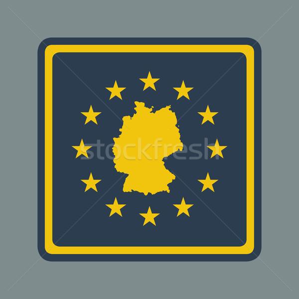 Németország európai zászló gomb reszponzív web design Stock fotó © speedfighter