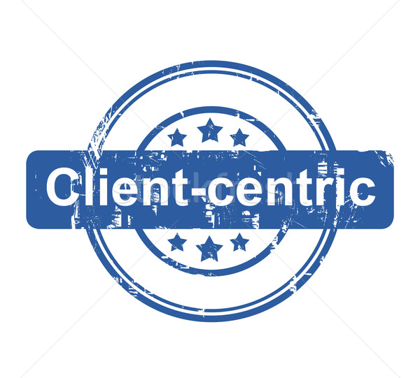 Client-centric business concept stamp Stock photo © speedfighter
