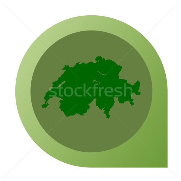 Isolated Switzerland map marker pin Stock photo © speedfighter