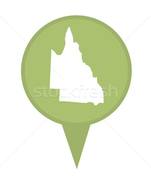 Australia queensland Pokaż znacznik pin odizolowany Zdjęcia stock © speedfighter