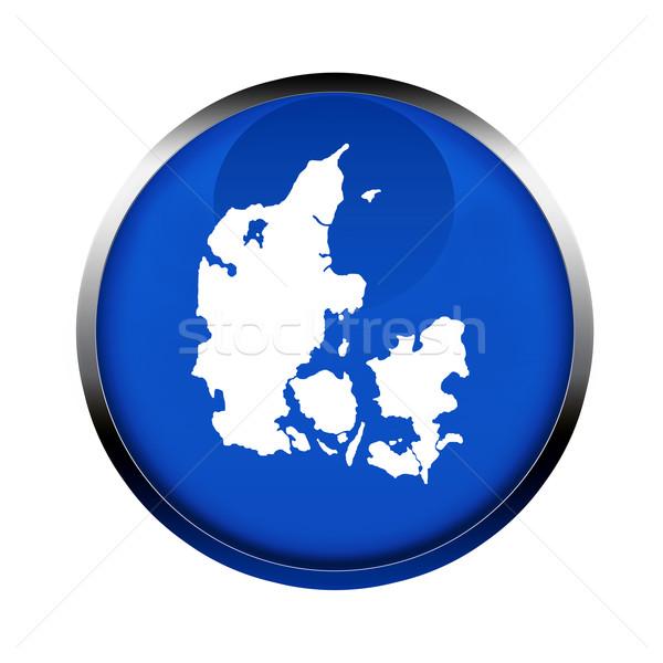 Danimarka harita düğme renkler avrupa sendika Stok fotoğraf © speedfighter