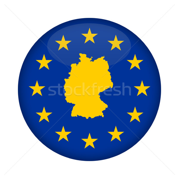 Germany map European Union flag button Stock photo © speedfighter