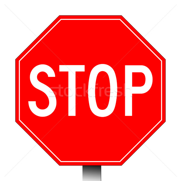 Red stop sign Stock photo © speedfighter