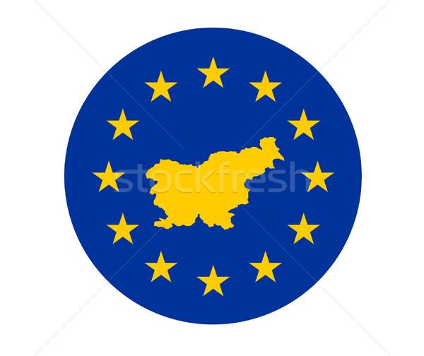 スロベニア ヨーロッパの フラグ 地図 組合 黄色 ストックフォト © speedfighter