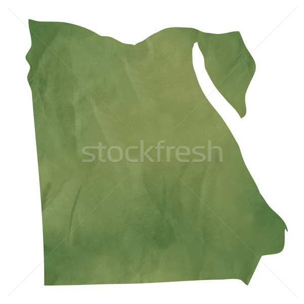 Old green paper map of Egypt Stock photo © speedfighter