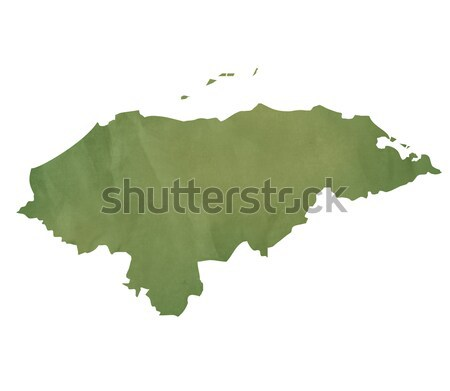 Letland kaart groene papier oude geïsoleerd Stockfoto © speedfighter