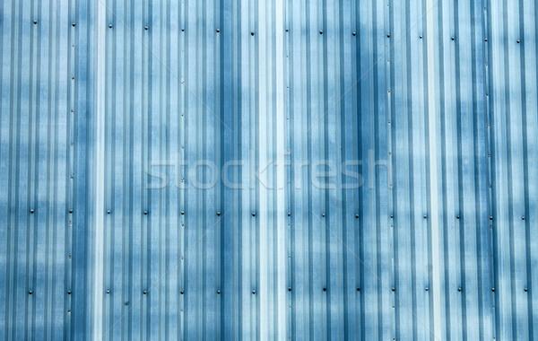 Blue corrugated metal background Stock photo © speedfighter