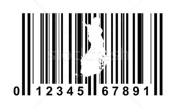 Finlândia código de barras compras isolado branco negócio Foto stock © speedfighter